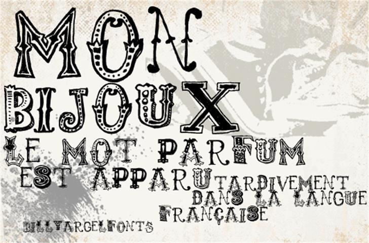 monbijoux Font text drawing