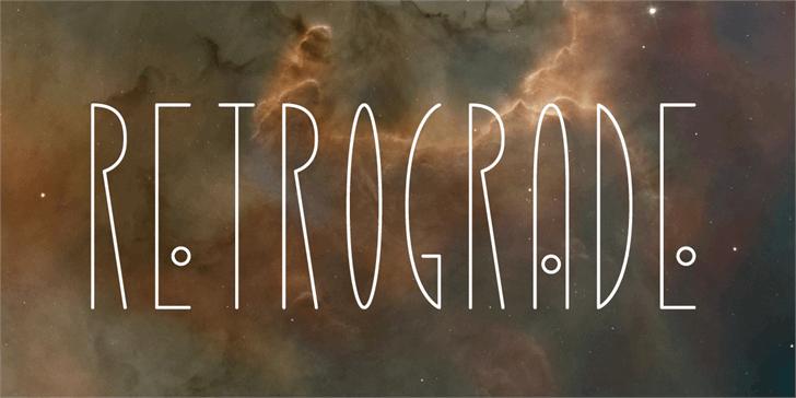 Retrograde Font fireworks light
