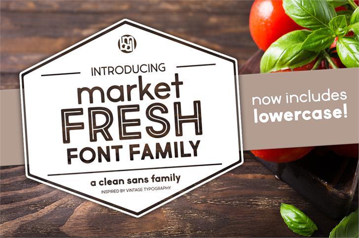Market Fresh Font fruit food