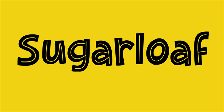 Sugarloaf DEMO Font design graphic
