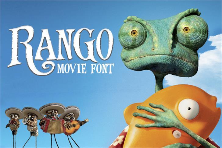 RangoMovieFont cartoon dinosaur
