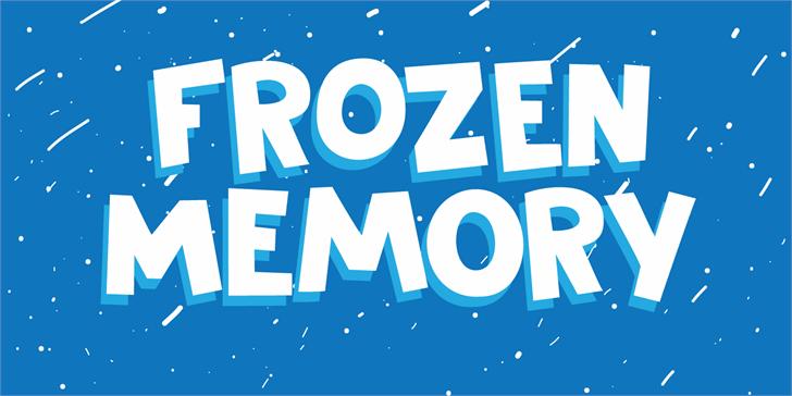 DK Frozen Memory Font design screenshot