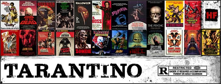 Tarantino Font poster cartoon