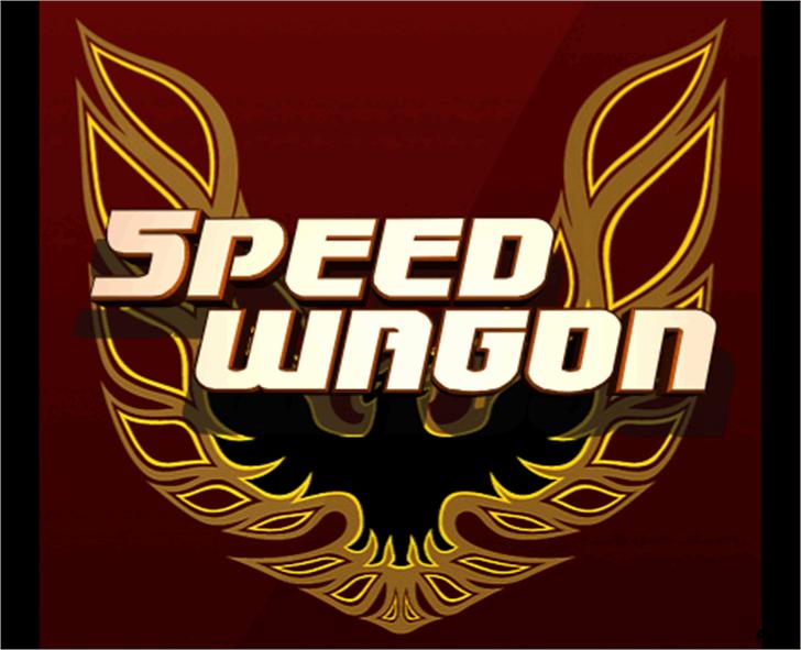 Speedwagon Font design poster