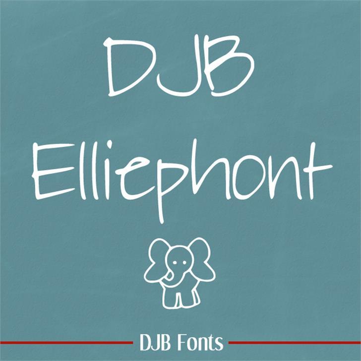 DJB Elliephont Font blackboard text