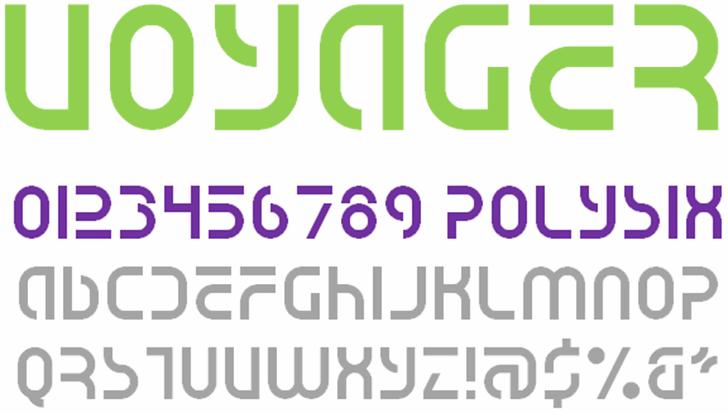 Voyager NBP Font design font