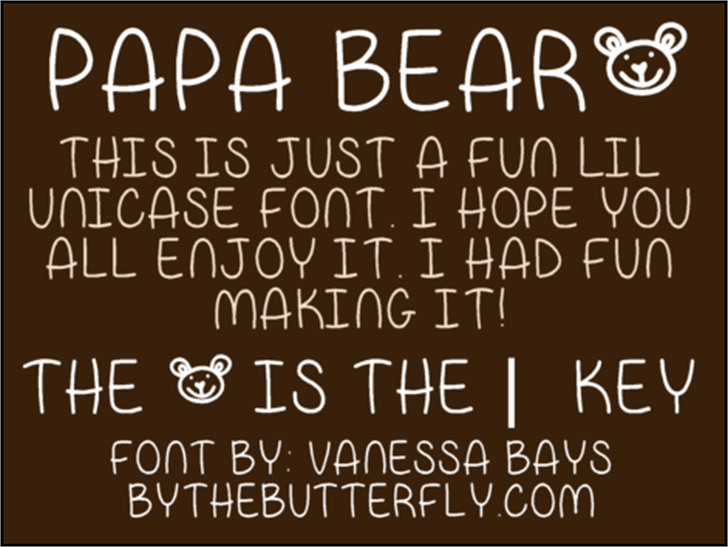 Papa Bear Font handwriting text