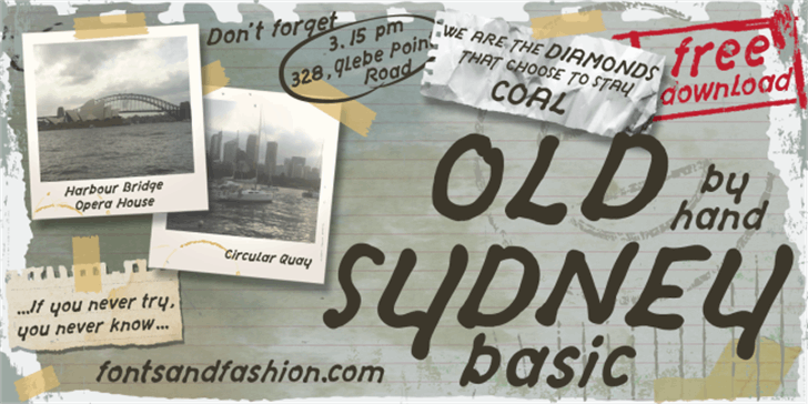 OLD SYDNEY_DEMO Font handwriting text