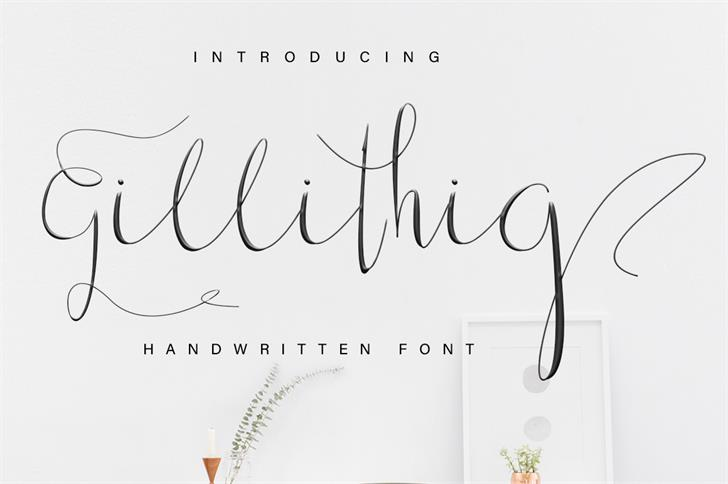 Gillithig Font handwriting