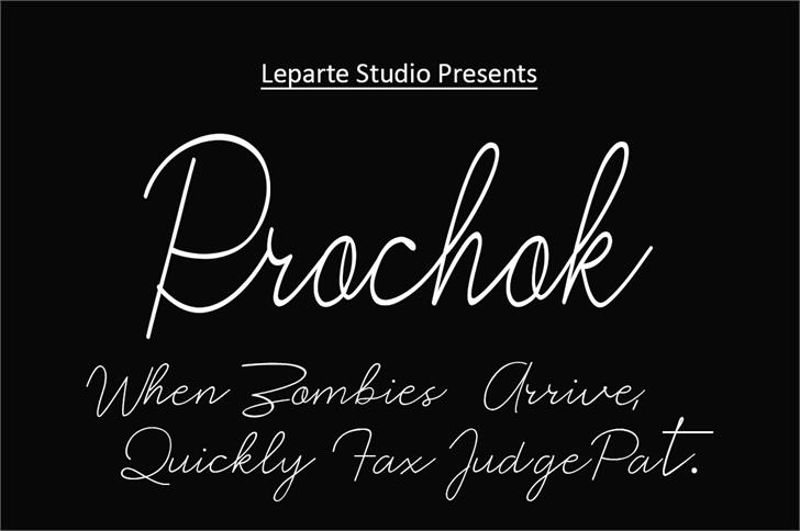 Prochok Font handwriting text