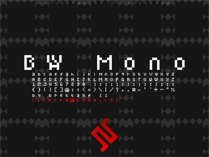 BWMono Font screenshot poster
