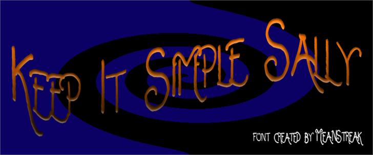 Keep It Simple Sally Font cartoon design