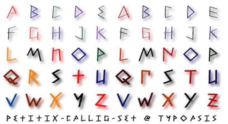 Petitix Three Callig Font design pattern