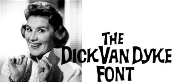 Dick Van Dyke Font person human face