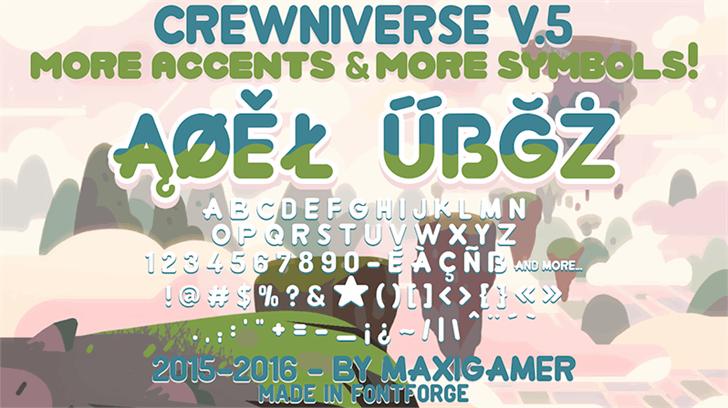 Crewniverse Font text poster