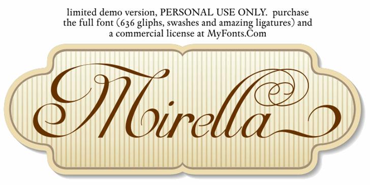 Mirella Script Limited Free Ver Font design handwriting