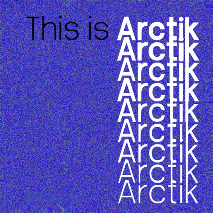 Arctik font by NathanCaldecott