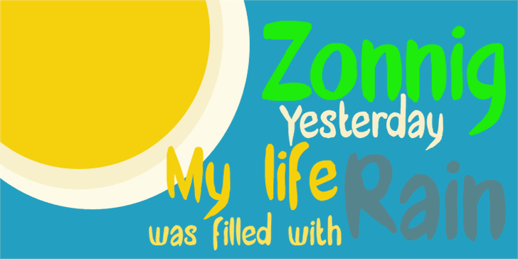DK Zonnig Font design screenshot