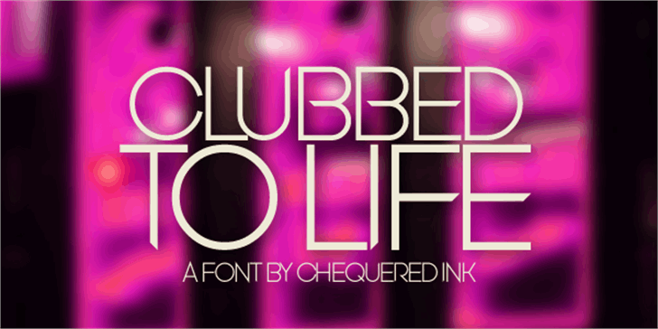 Clubbed to Life Font screenshot violet