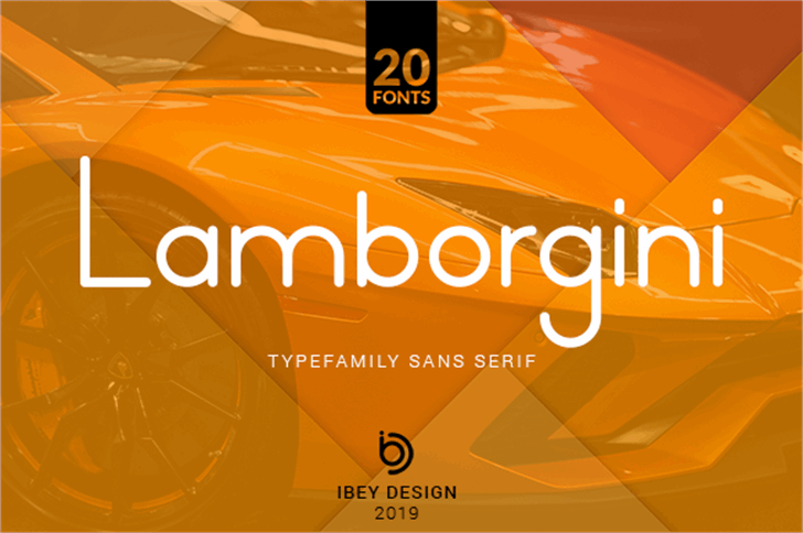 Lamborgini Font screenshot design