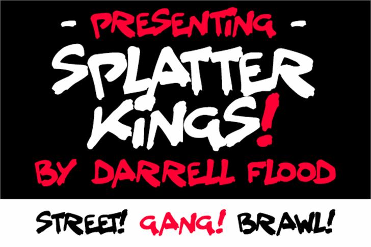 Splatter Kings Font poster design