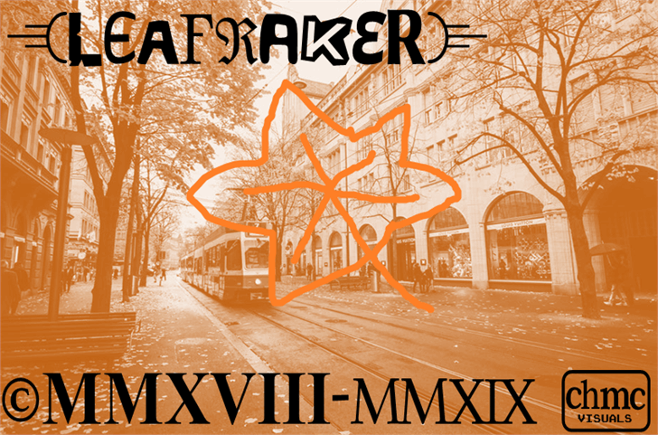 Leafraker font by heaven castro