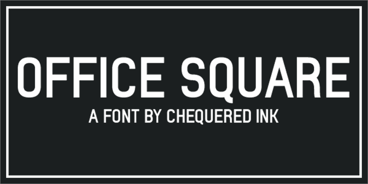 Office Square Font screenshot design