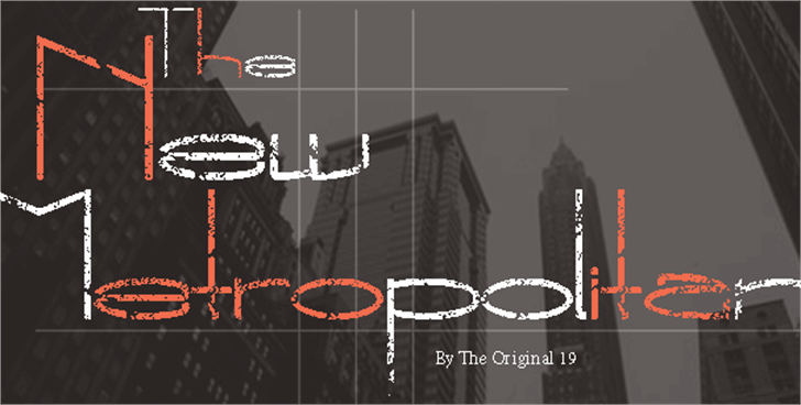 The New Metropolitan Font screenshot design