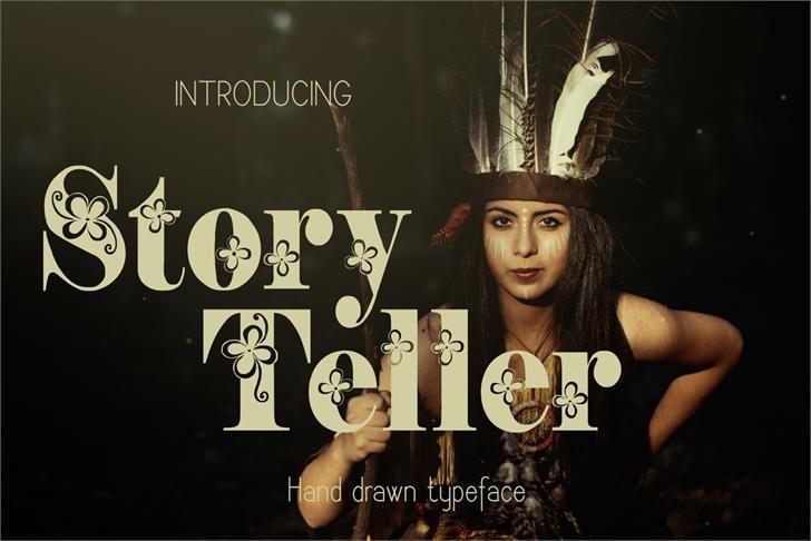 Storyteller Font poster cartoon