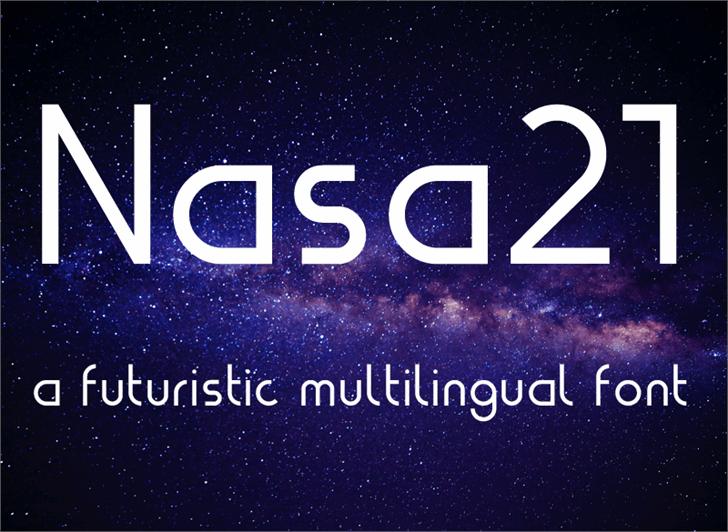 Nasa21 Font design screenshot