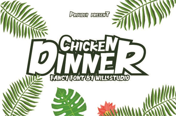 Chicken Dinner Demo Font poster