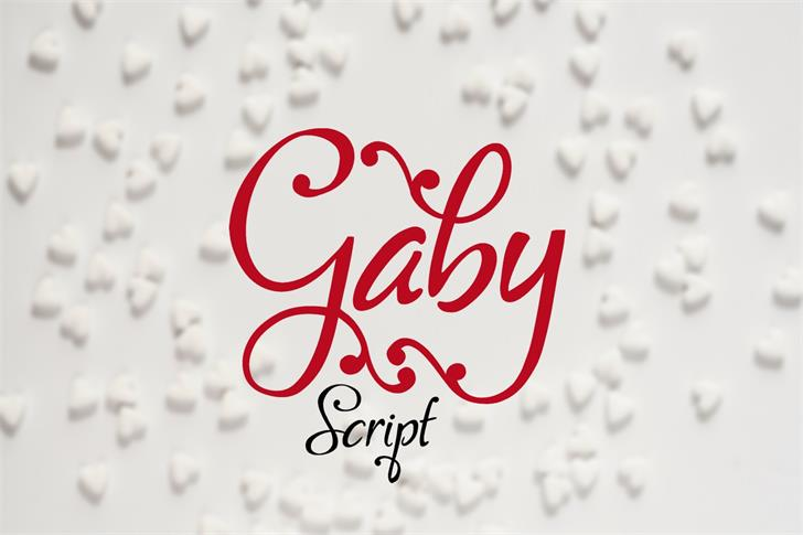 Gaby Font handwriting design