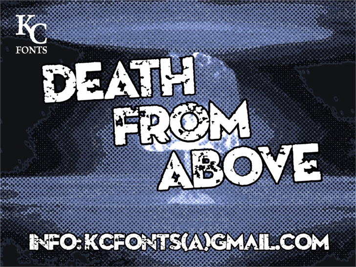 Death From Above Font screenshot poster
