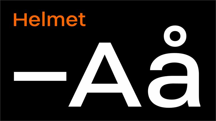 Helmet Font design screenshot