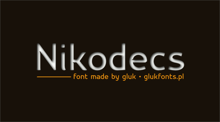 Nikodecs Font screenshot design