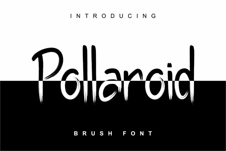 Pollaroid Font design screenshot