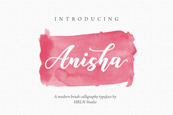 Anisha Free Font handwriting design