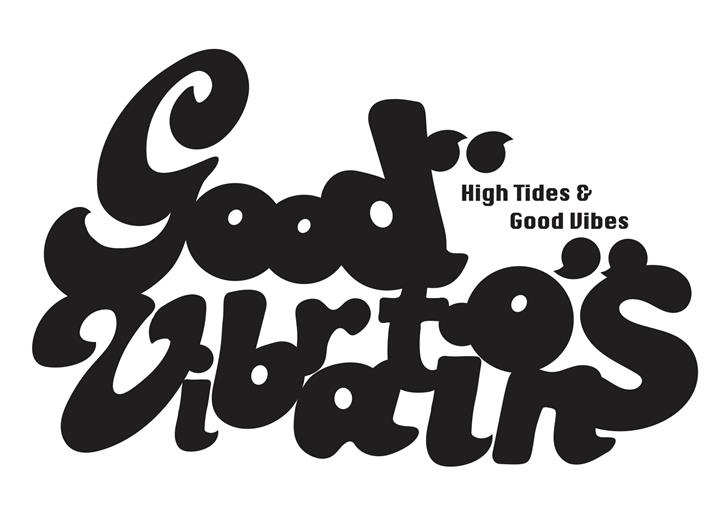 Good Vibrations Font cartoon design