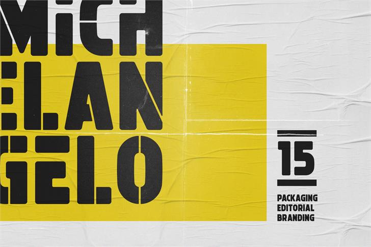 Michelangelo Font poster