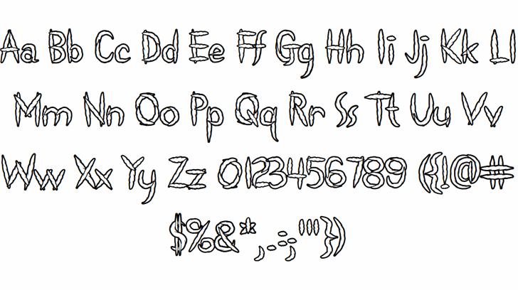 Spliffs Font Letters Charmap
