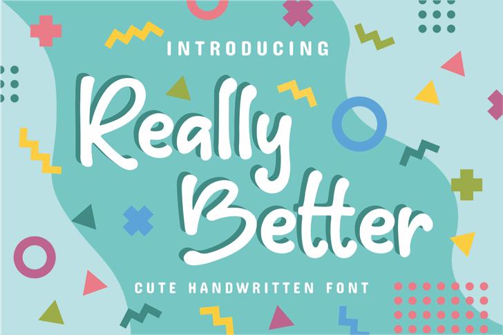 Really Better Font cute handwritten