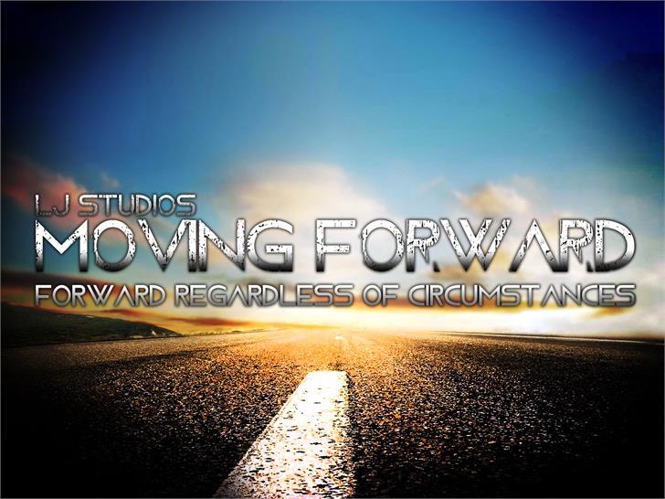 Moving Forward Font screenshot sky