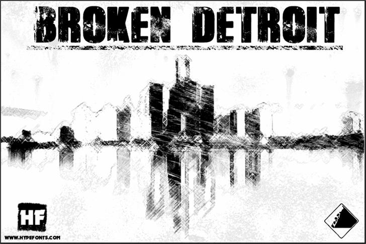 Broken Detroit Font sketch text