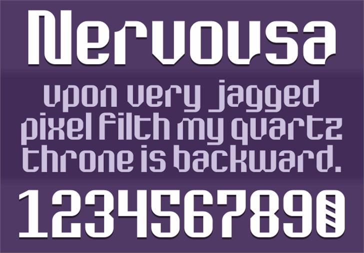 Nervousa Font screenshot poster