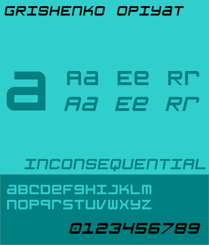 Grishenko Opiyat NBP Font screenshot font