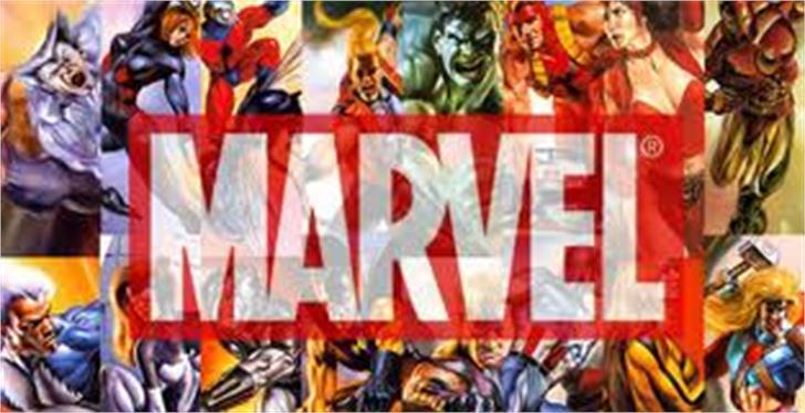 The Avengers Font poster cartoon