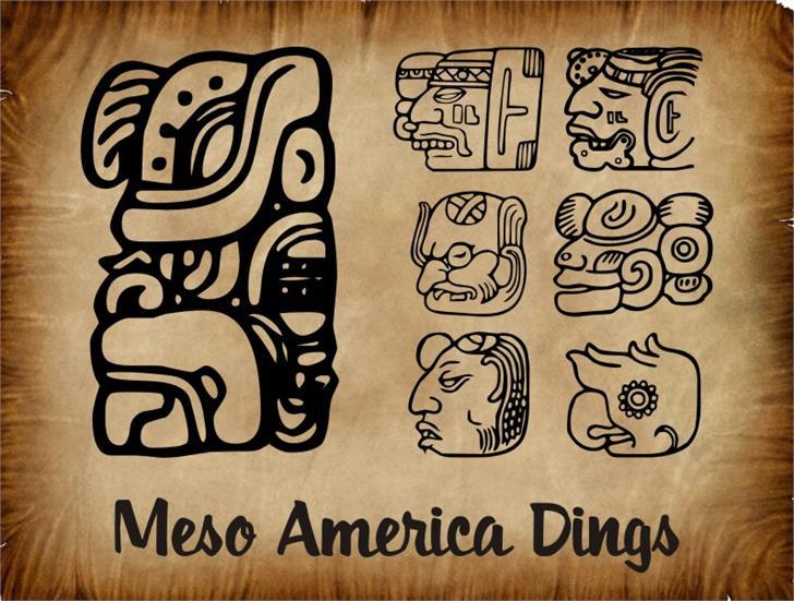 MesoAmerica Dings Font drawing cartoon