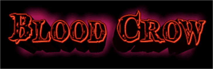Blood Crow Font design light