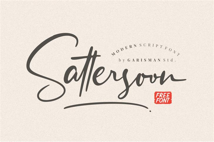 Sattersoon Font poster