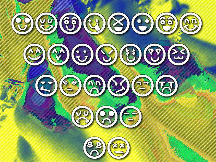 Hand Faces St Font cartoon